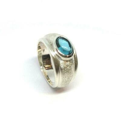 Ring aus 925er Sterlingsilber mit Topas