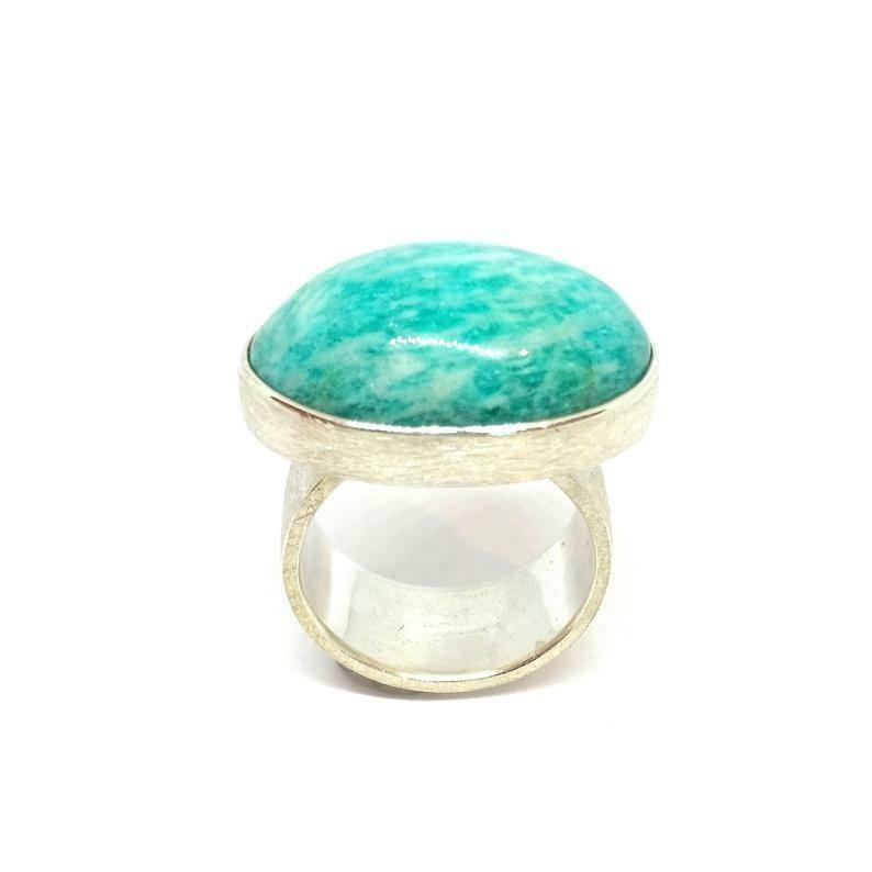 Ring aus 925er Sterlingsilber mit Amazonit