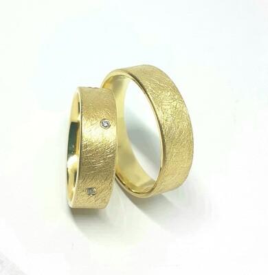 Trauringe Zeus aus 750er oder 585er Gold mit Brillanten