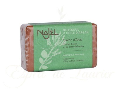 Savon d'Alep au rhassoul et à l'huile d'argan /  Éclat de la peau