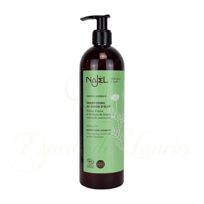 Shampoing au savon d'Alep BIO Cheveux NORMAUX (Sans sulfate)