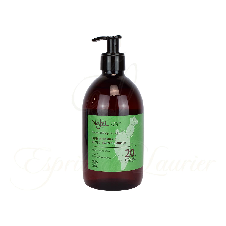 Savon d'Alep liquide 20% huile de figue de barbarie