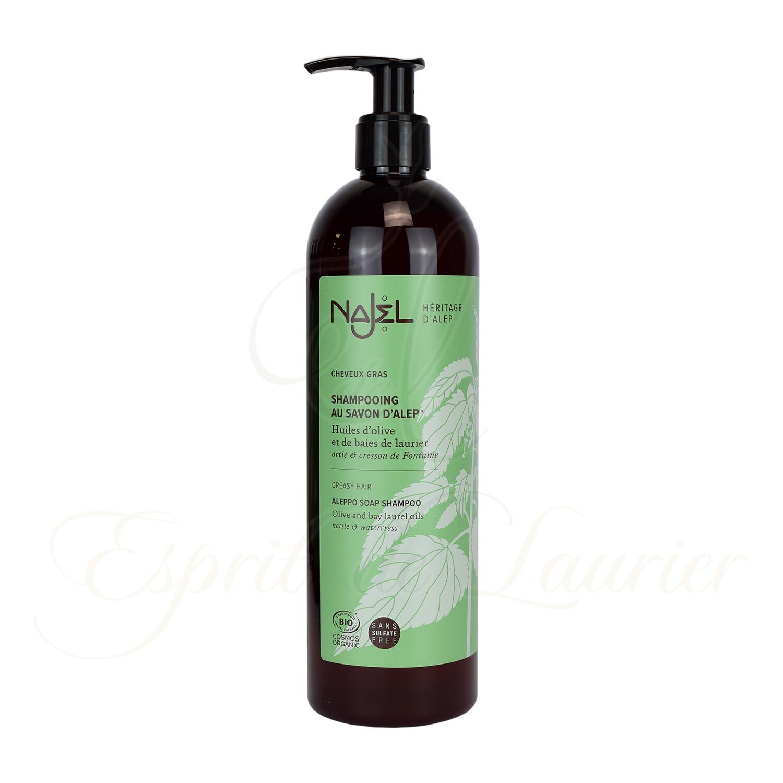 Shampoing au savon d'Alep BIO Cheveux GRAS (Sans sulfate)