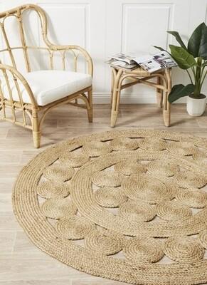 Sisal Handmade Jute Rug 120 cm diameter (4 feet)