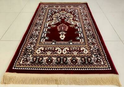 Prayer Mat Red (80 x 125 cm) | Made in Turkey | Art Silk
