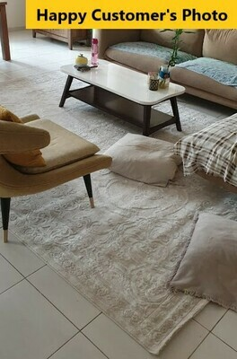 Thea Beige Self Rug (Multiple sizes)