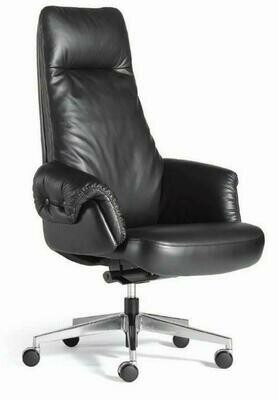 High Boss Chair with wheels (Black)