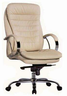 High Leader Chair with wheels (Cream)