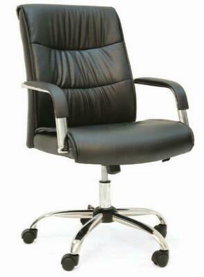 High SAM Chair with wheels (Black)