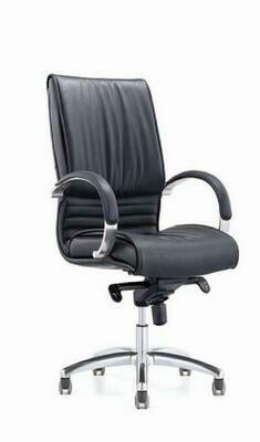 High Fendi Chair with wheels (Black)