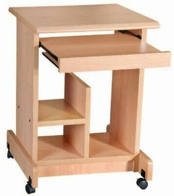Computer Table / Study Table with wheels (Beige)