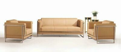 Milano 2 seater sofa (Choose 1 / 2 / 3 seater, leather/fabric, 48 colour options)