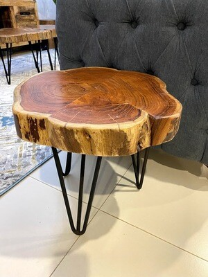 End/Side Table (Acacia Wood) Industrial style