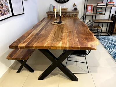 Dining Table (Acacia Wood) Industrial style