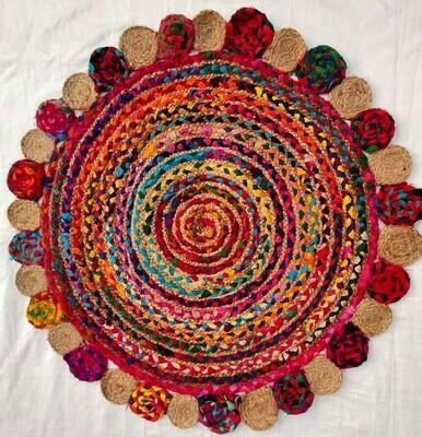 Dil Handmade Jute Rug 90 cm diameter (3 feet)