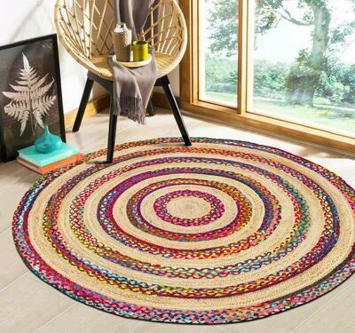 Holi Handmade Jute Rug 120 cm diameter (4 feet)