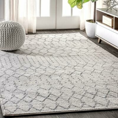 Boho Rug White-Grey Moroccan Hype (240x300 cm)