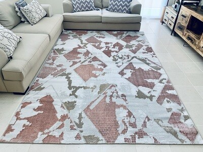 Spire Pink Gold Rug (Multiple sizes)