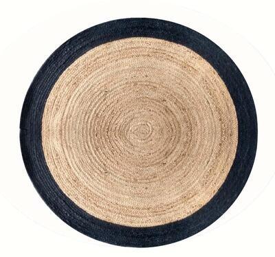 Corvus Handmade Jute Rug Black (Multiple sizes)