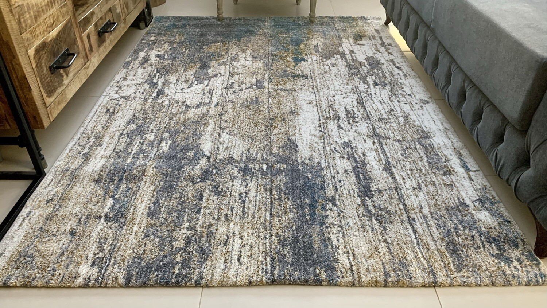 Attis Rug (Multiple sizes) - Grey/Turquoise