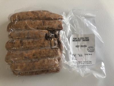 Pork Gluten Free Breakfast Sausage