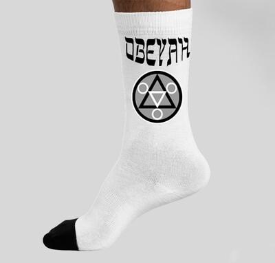 White Obeyah Socks