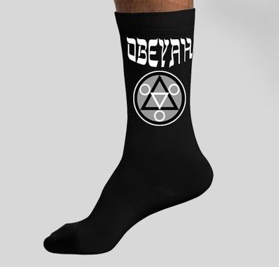 Black Obeyah Socks