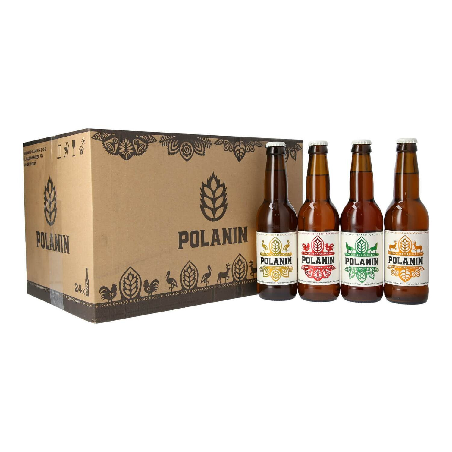 Polanin Mixed Party Case - 24 bottles (6 Lager, 6 Pilsner, 6 Wheat, 6 IPA)
