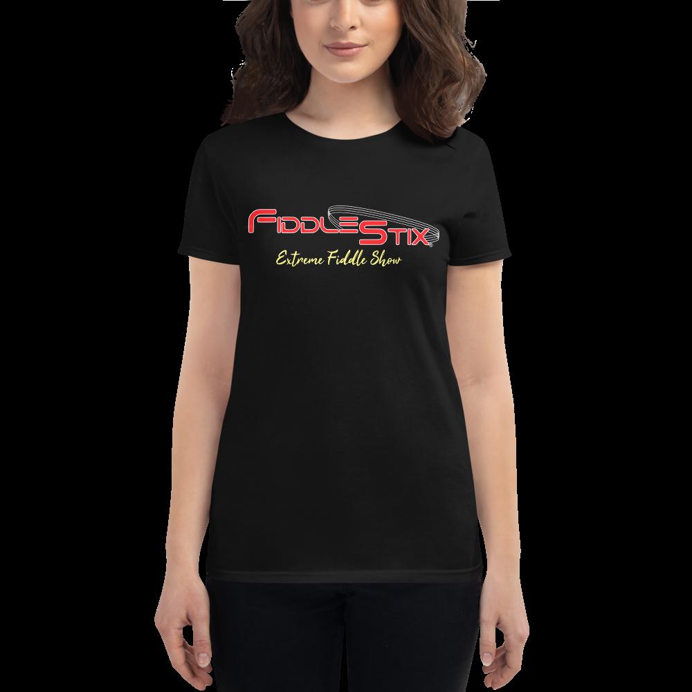 Fiddlestix Women's 2 Sided Print - short sleeve t-shirt