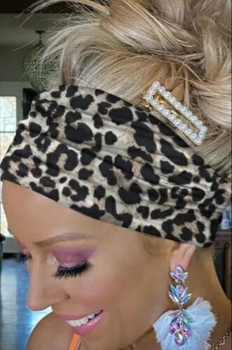 Black Leopard Headband