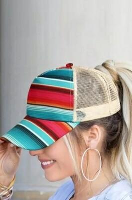 Rainbow Stripped Cap