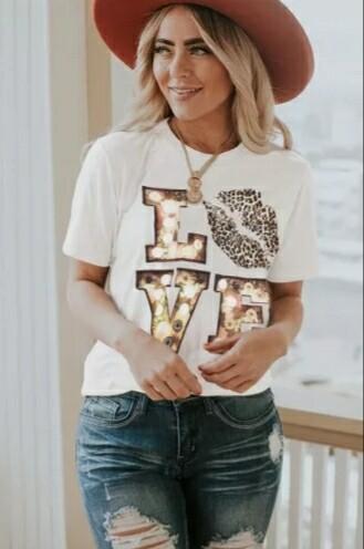 White Love/Kiss Shirt
