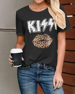 Kiss/Cheetah Lips Shirt