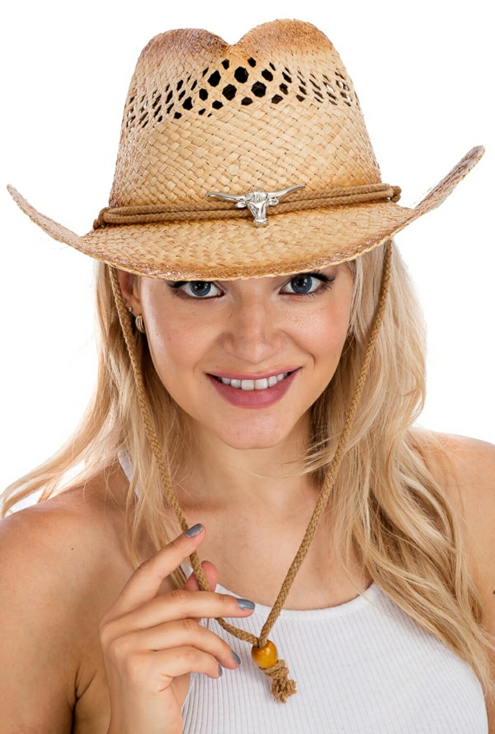 BOHO Longhorn With Rope Hat