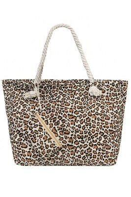 Leopard Tote With Coin Pouch