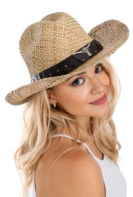 Western BOHO Bull Cowboy Hat