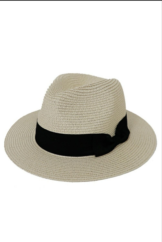 Bow Band Panama Fedora Hat