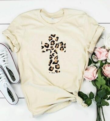 Cream Leopard Cross Shirt