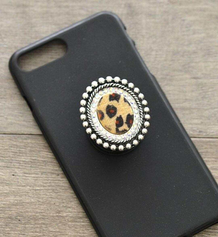 Leopard Round Pop Socket