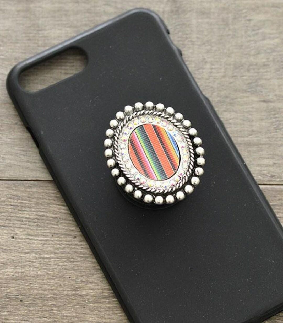 Serape Oval Striped Pop Socket