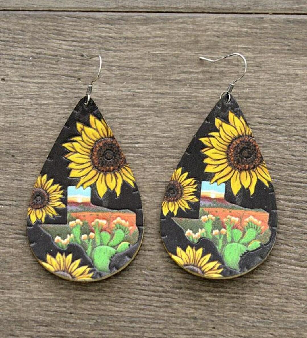 Sunflower & Texas Earrings