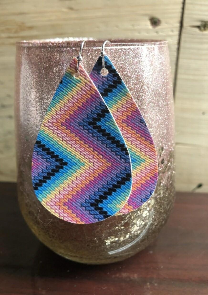 Aztec Blanket Earrings