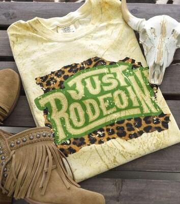 Citrine & Leopard Just Rodeoin Shirt