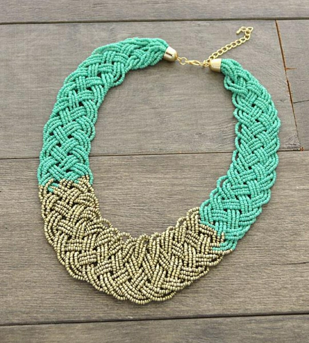 Turquoise & Gold Neclace