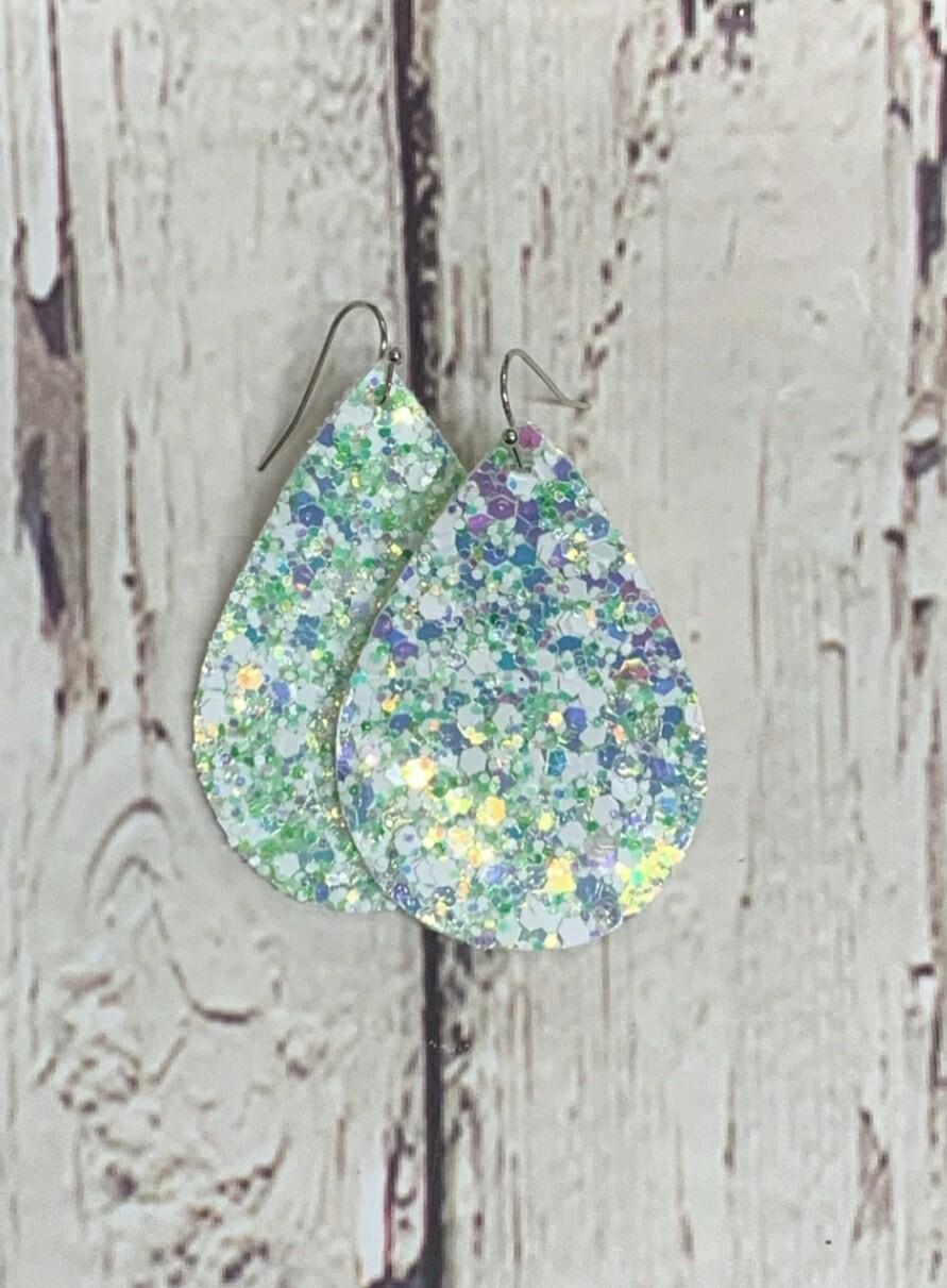 Honey Dew Glitter Earrings