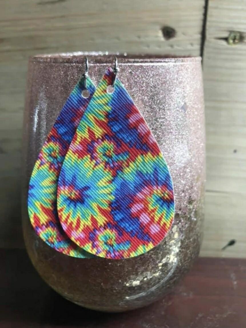 Tie Dye Earrings