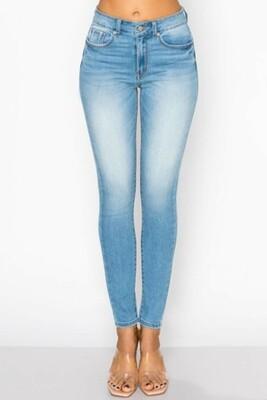 Light Blue Faded Skinny Jeans
