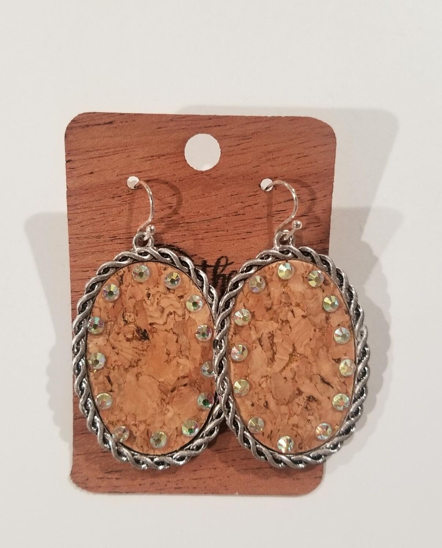 Silver & Cork Earrings