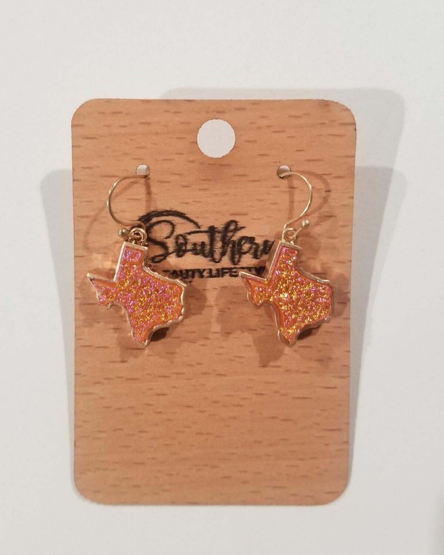 Orange Texas Earrings