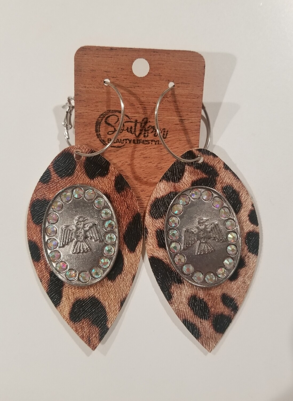 Leopard Thunderbird Earrings